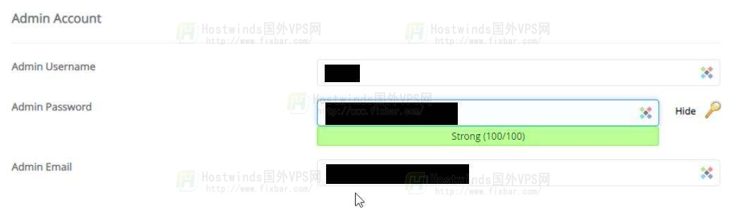 Wordpress后台的用户名和密码