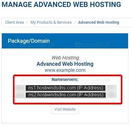 如何找到Hostwinds的域名服务器?