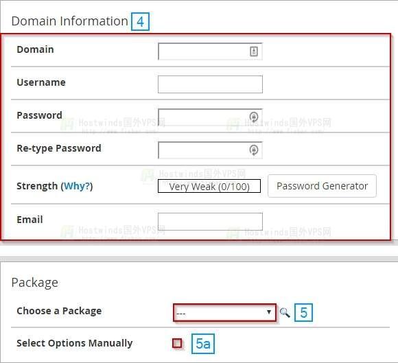 Hostwinds 如何创建cPanel帐户?
