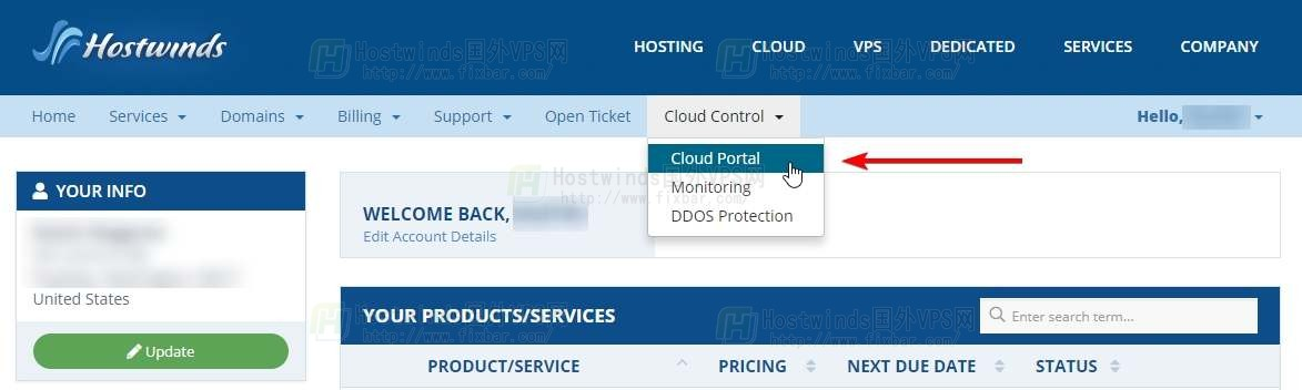 从Hostwinds的Cloud Portal修复网络的教程