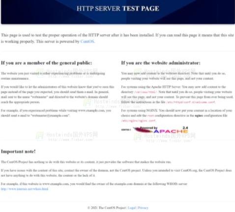 apache测试页面